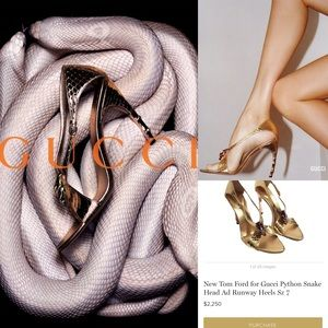 Rare Gucci By Tom Ford Python Heels